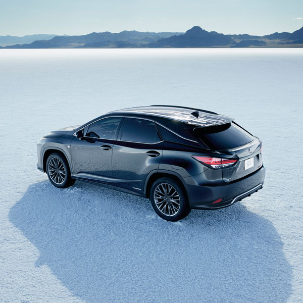 The Lexus RX h was the world's first luxury self-charging hybrid electric SUV.