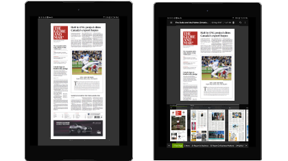 Globe products the globe and mail globe2go is the digital newspaper replica available for auto delivery download at 5am et on any device your experience includes a seven day archive fandeluxe Image collections