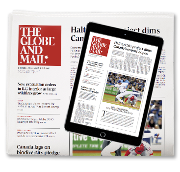 The Globe and Mail Print edition & Globe2Go image