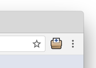 An example of what the extension icon looks like in the Chrome browser