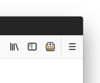 An example of what the add-on icon looks like in the Firefox browser