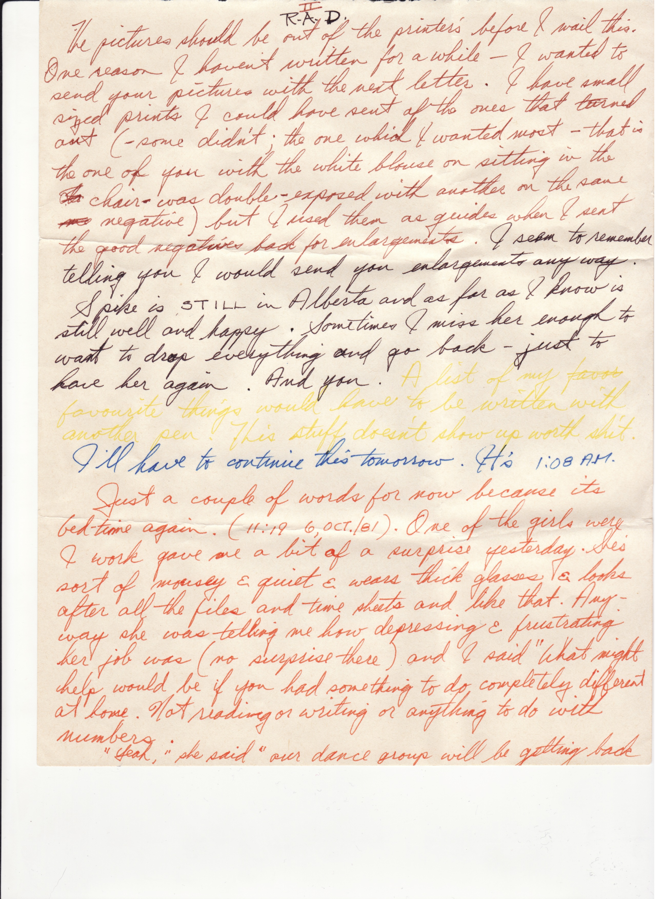 Read and destroy: One woman's letters with the man who abused her