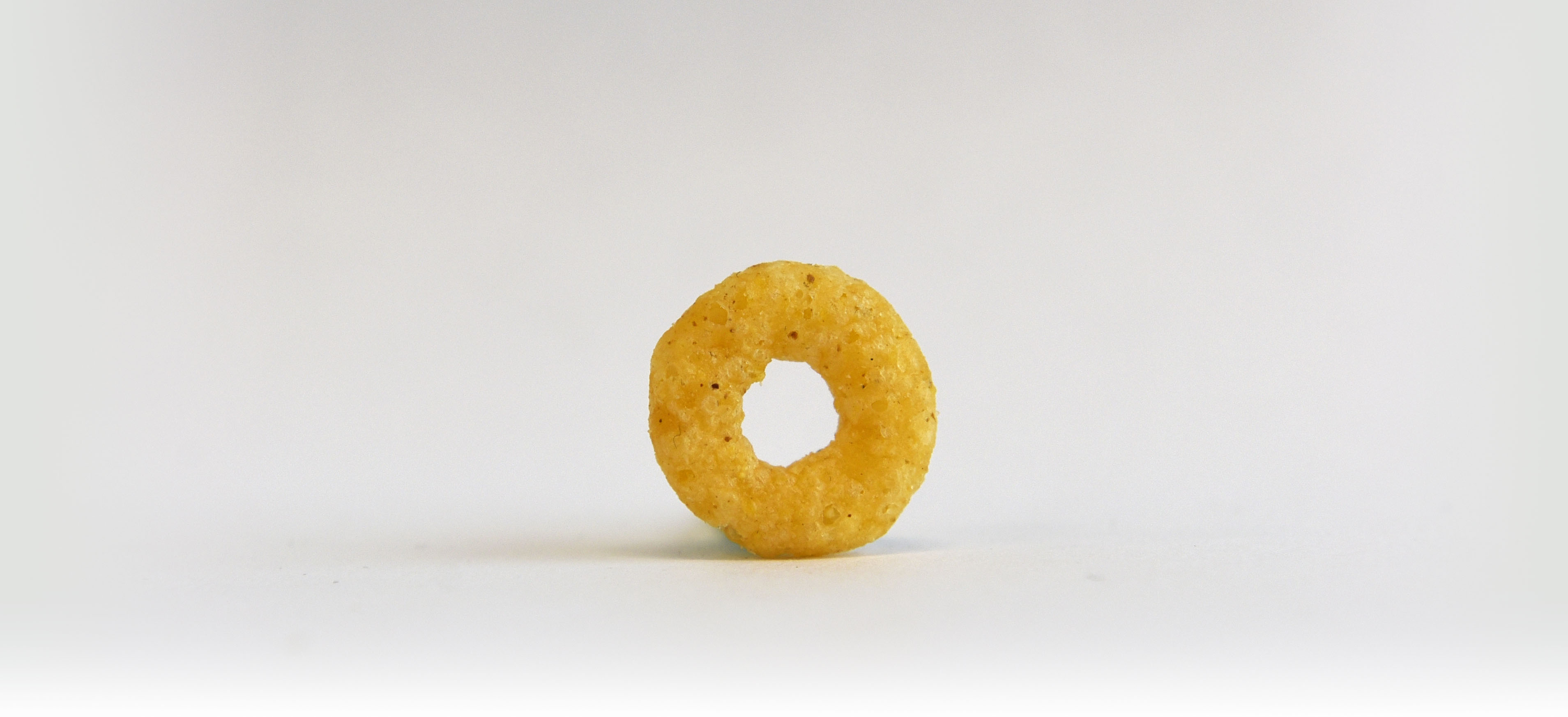 A still life photograph of a toasted O from a package of snack food. (Fred Lum/The Globe and Mail)