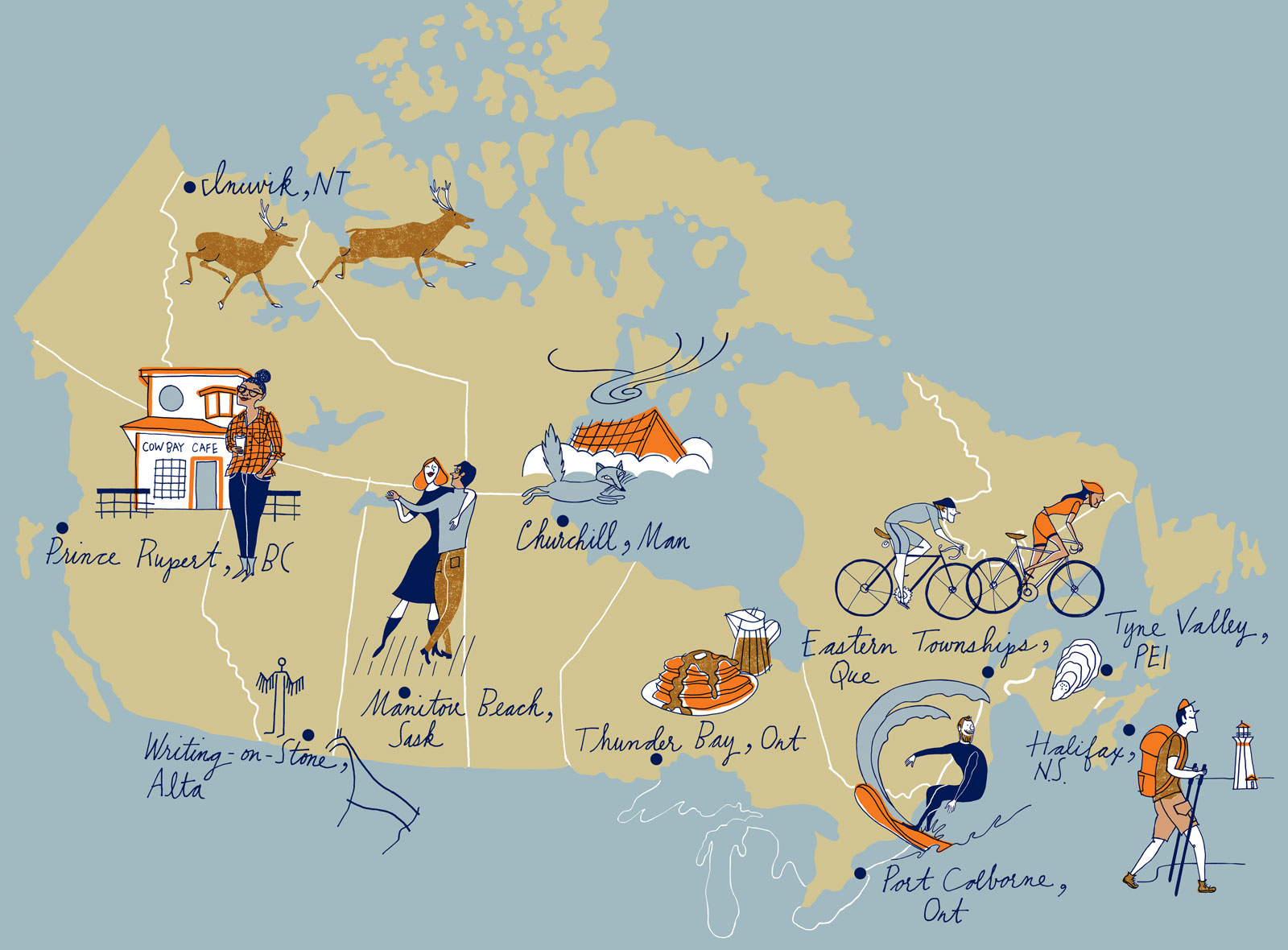 Map Of Canada On Globe.Hidden Canada Your Annual Travel Guide To The Country S