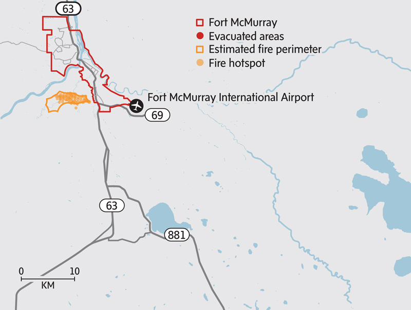 Fort Mcmurray Wildfire Map.A Week In Hell How Fort Mcmurray Burned The Globe And Mail