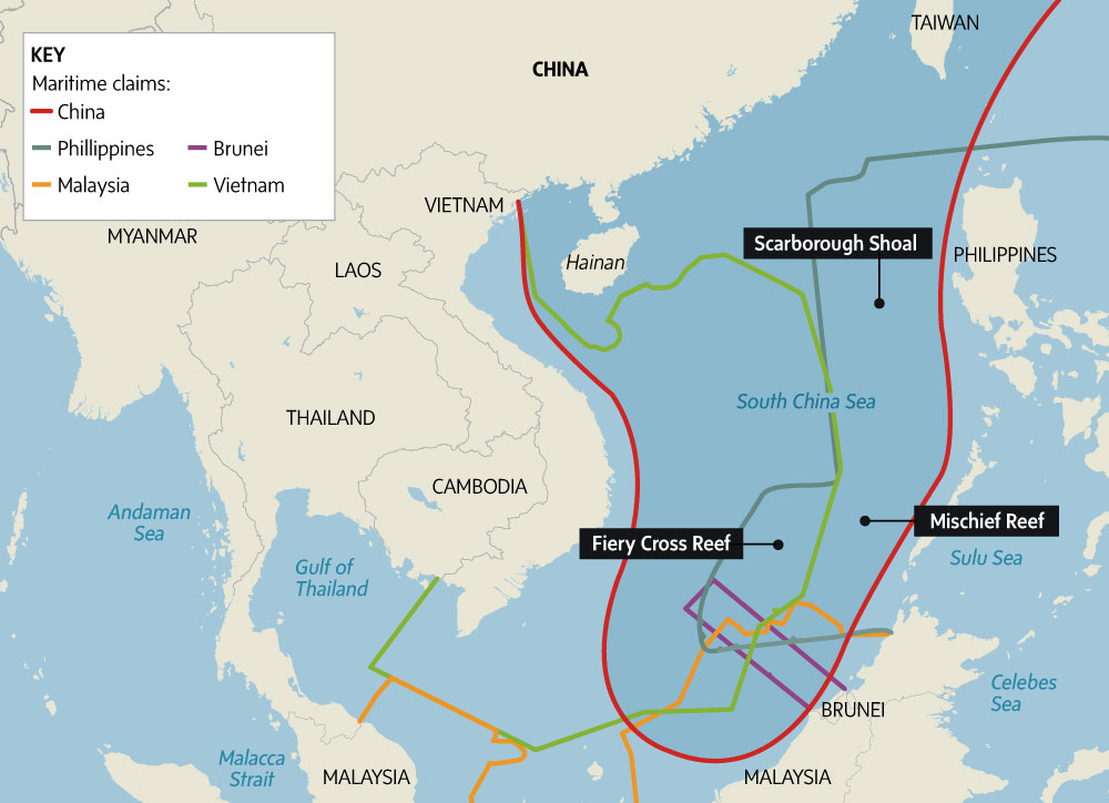 Tension rising in south china sea the globe and mail overlapping claims turn nine dash linein south china sea into maritime flashpoint publicscrutiny Images