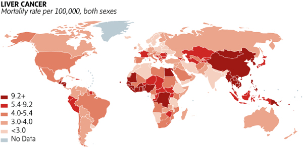Five maps that put cancer's global spread into focus - The