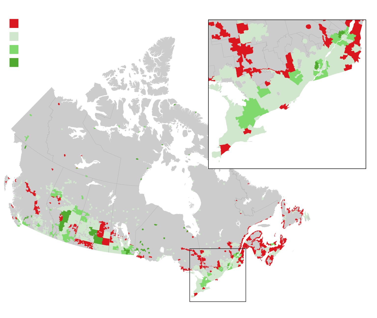 the influence of demographic changes on the growing population of canada Ontario population projections update, 2017–2041  regional components of population change the main demographic determinants of regional population growth are the current age structure of the population, the pace of natural increase, and the migratory movements in and out of each of ontario's regions  this increase over time.