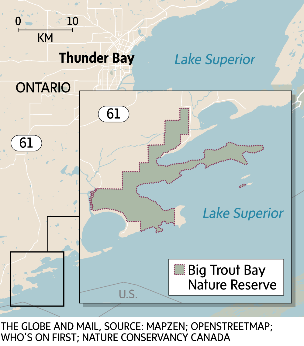 Big Trout Bay Nature Reserve Map