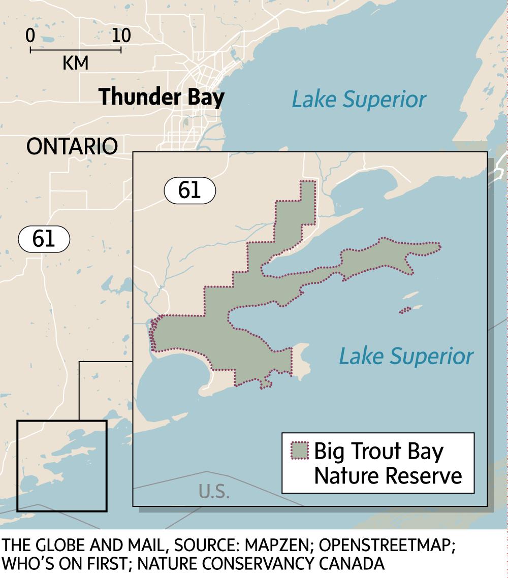 Big Trout Bay Nature Reserve Map