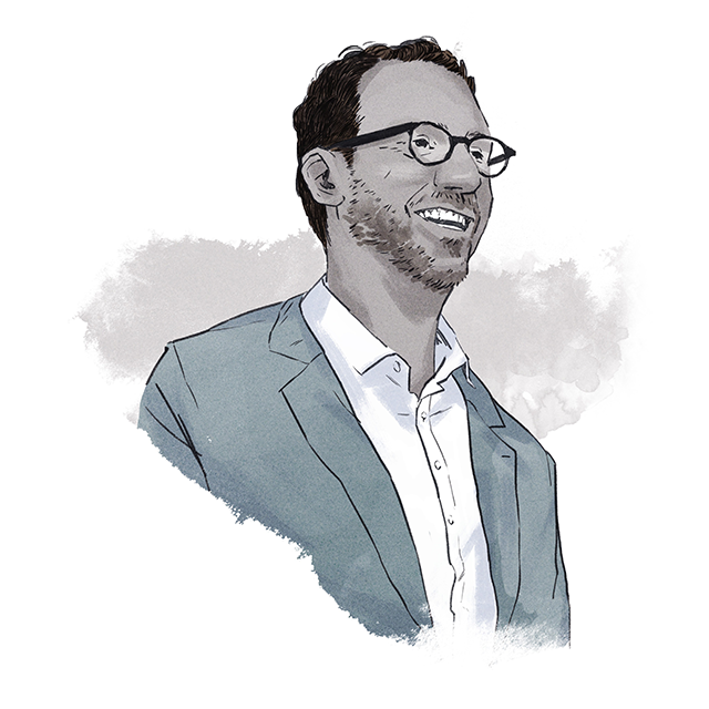 Illustration of Gerald Butts