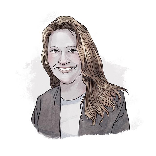 Illustration of Katie Telford