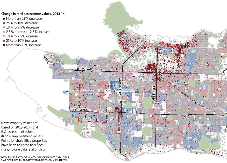 Gentrification a reality in Vancouver, property map suggests - The on