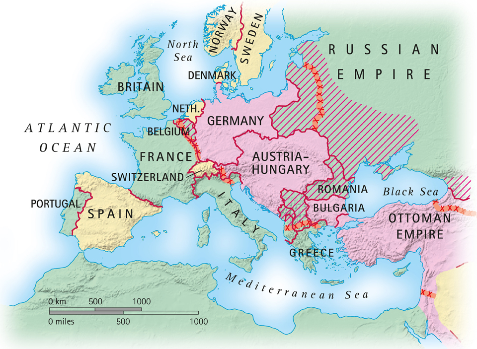 A Map Of Europe In 1914.Taking You Back To 1914 Relive The Start Of The First World War