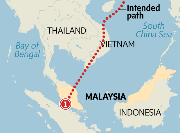 What happened to the missing Malaysian flight? A visual guide