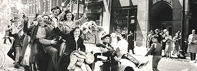 People celebrating World War II VE Day in Toronto