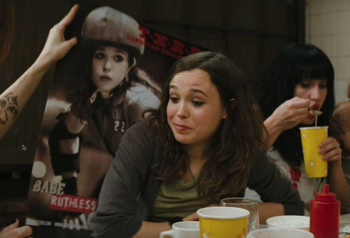 Whip It: The directorial debut of Drew Barrymore stars Ellen Page , shown here, as Bliss, a rebellious Texas teen who throws in her small town beauty pageant crown for the rowdy world of roller derby.