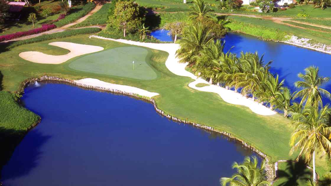In the Dominican Republic, the Casa de Campo resort course is always popular and idyllic.