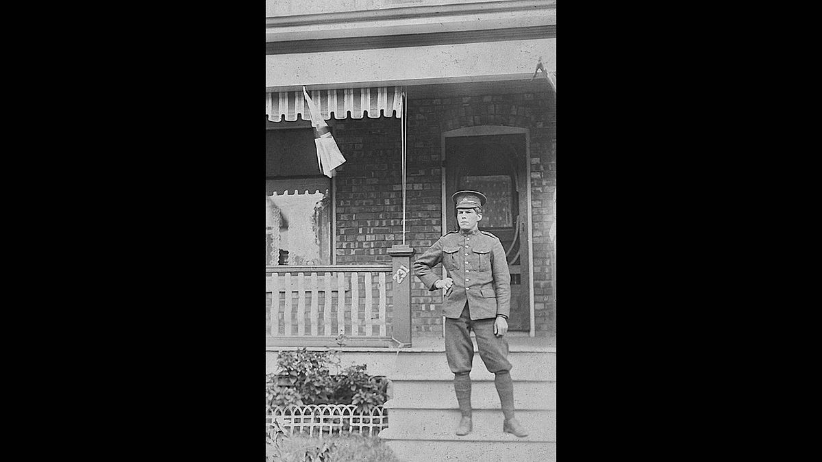 Mark Robins photo: Edward Victor Young - My great grandfather about to leave Toronto for England around 1912-1914.