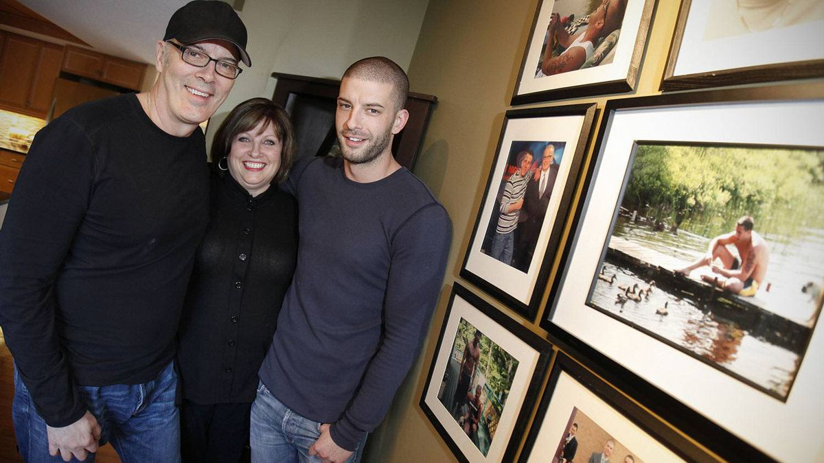 Scott Oake with his wife Anne and youngest son Darcy, an acclaimed illusionist, who is performing a charity magic show at Manitoba Theatre Centre June 14 and 15 in support of addiction.