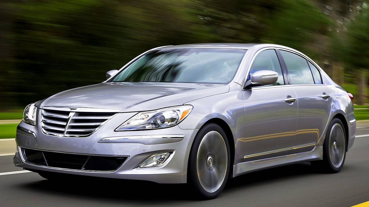 Hyundai Genesis ($38,999 base): Hyundai dipped its toe into luxury cars with the Genesis a couple of years ago, and while not a great sales success, the car is a solid player even if the Hyundai brand is by no means premium.