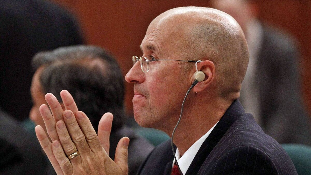 Parliamentary Budget Officer Kevin Page waits to testify before the Commons public accounts committee on May 3, 2012.