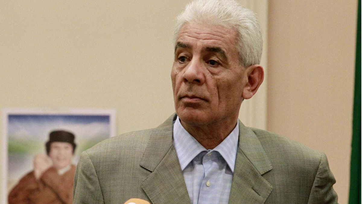 Libya's Foreign Minister Moussa Koussa holds a news conference in Tripoli in this March, 18, 2011 file photo.