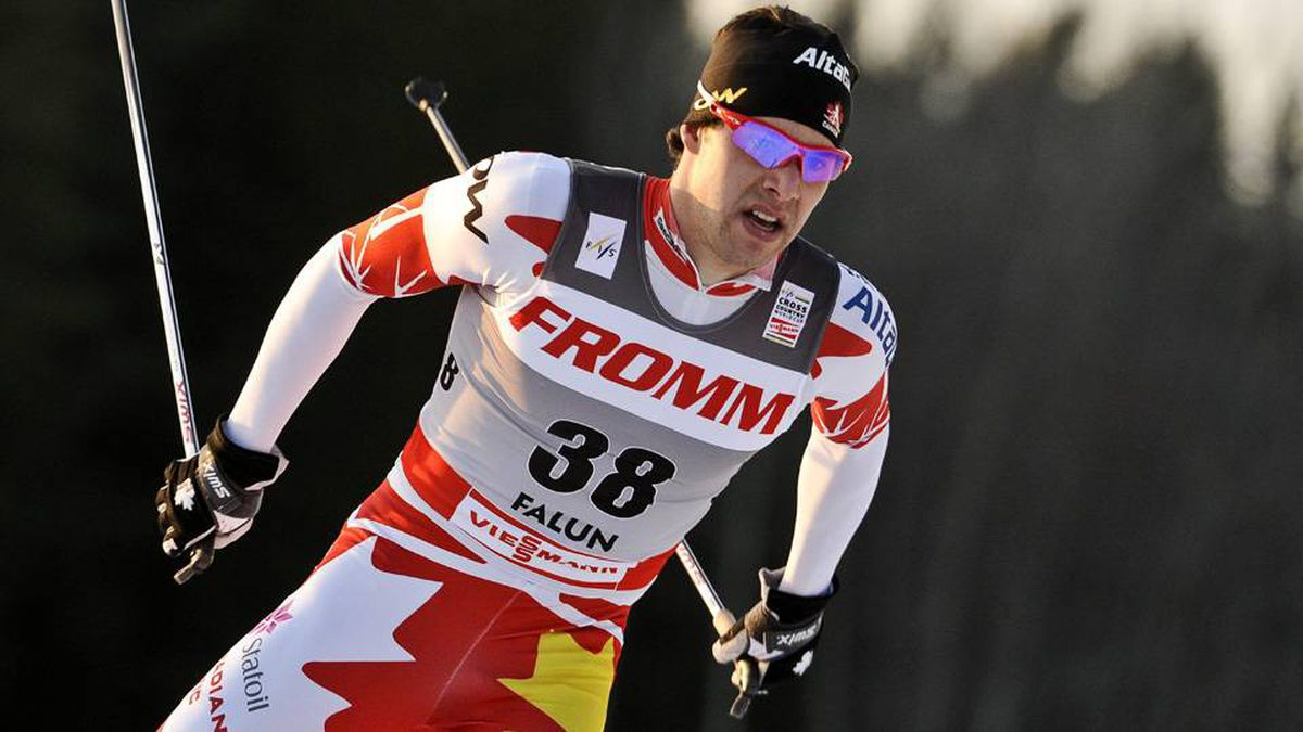 Alex Harvey of Canada skis to win the men´s World Cup prologue 3.5 kilometers free individual ski competition in Falun, Sweden Friday March 16 2012.