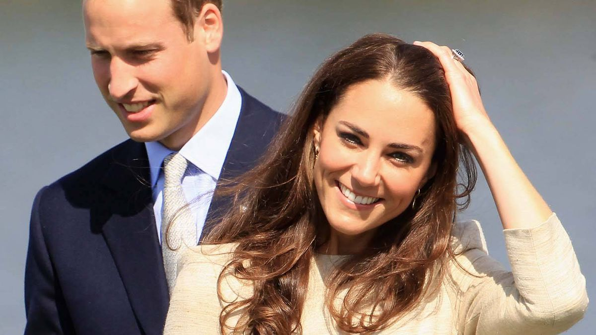 Prince William, Duke of Cambridge and Catherine, Duchess of Cambridge arrive for an official welcome ceremony at the Somba K'e Civic Plaza on July 5, 2011 in Yellowknife, Canada.