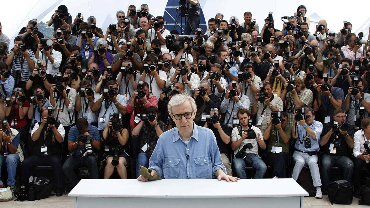 Woody Allen meets the press in Cannes.