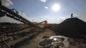 Heavy machinery is seen at First Quantum's former Frontier copper mine in Fungurume, in southern Democratic Republic of Congo.