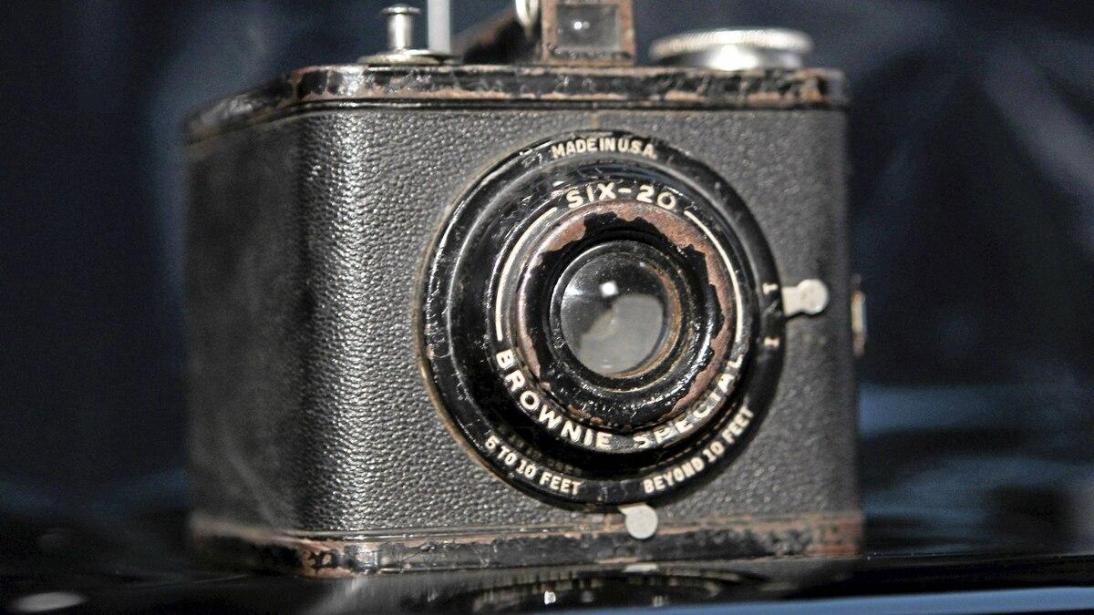 An Eastman Kodak Brownie Special Six-20 camera, circa 1938-1942, is shown Jan. 12, 2012 in this studio illustration in Washington.