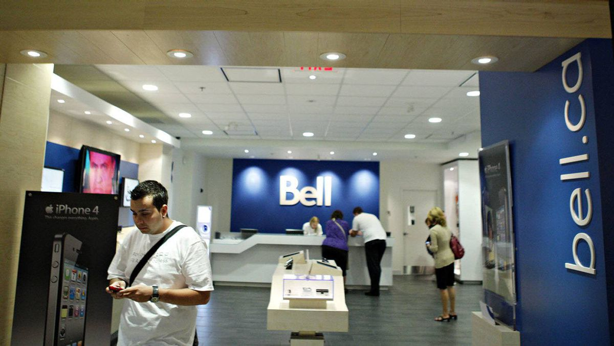 Bell store at Rideau Centre in Ottawa Aug. 12, 2010.