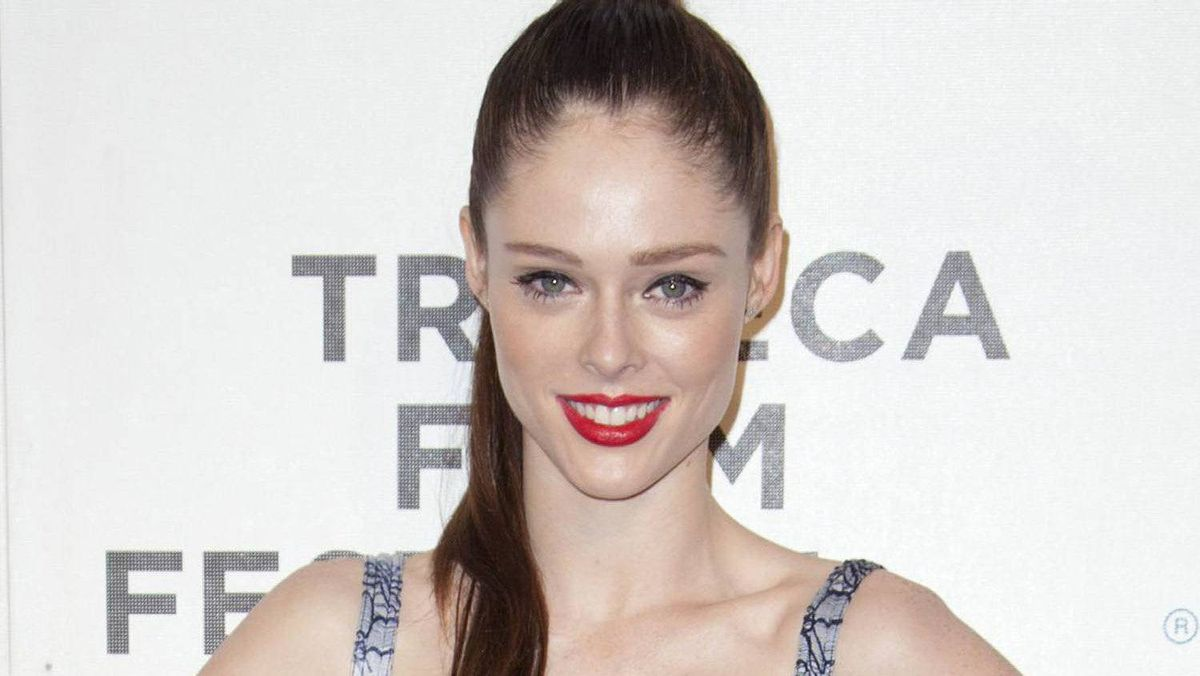 Model Coco Rocha arrives for the world premiere of Mansome as part of the Tribeca Film Festival in New York, April 21, 2012.