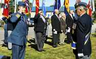 Russ Williams salutes as he arrives at the Battle of Britain parade in Trenton, Ont. in this Sept. 20, 2009.
