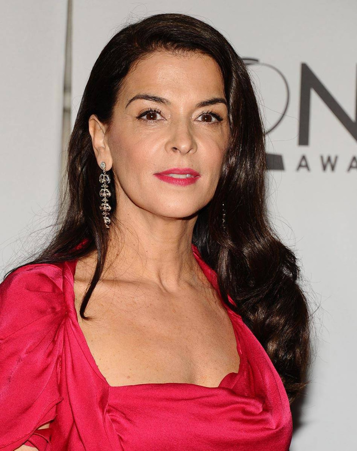 Annabella Sciorra arrives at the 65th annual Tony Awards, Sunday, June 12, 2011 in New York.