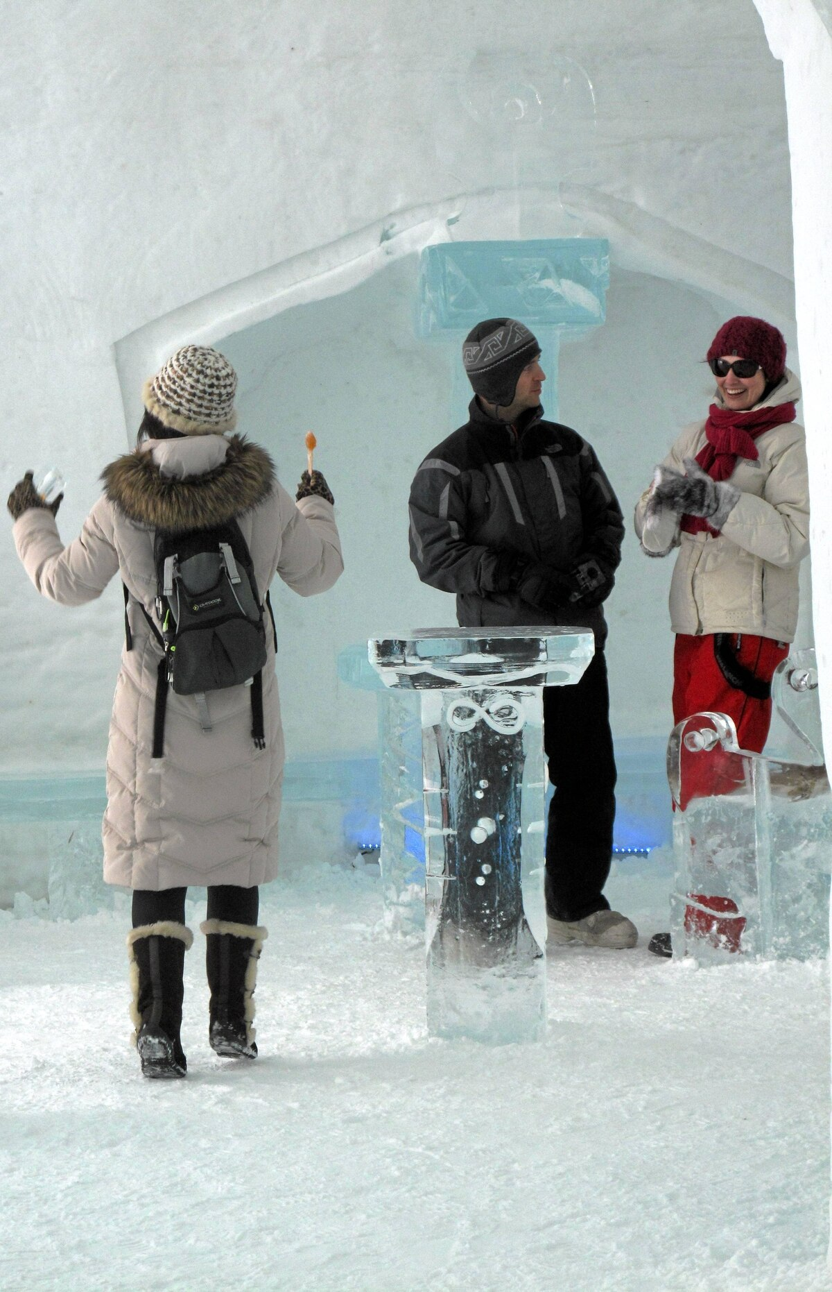 The music is thumping and few can resist the urge to move to the beat in the ice hotel bar.