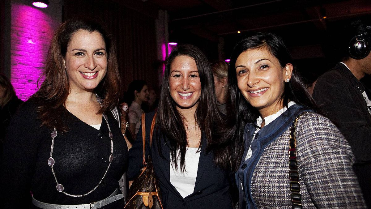Lianne Vineberg (left), Orit Sinai and Salima Alibhai
