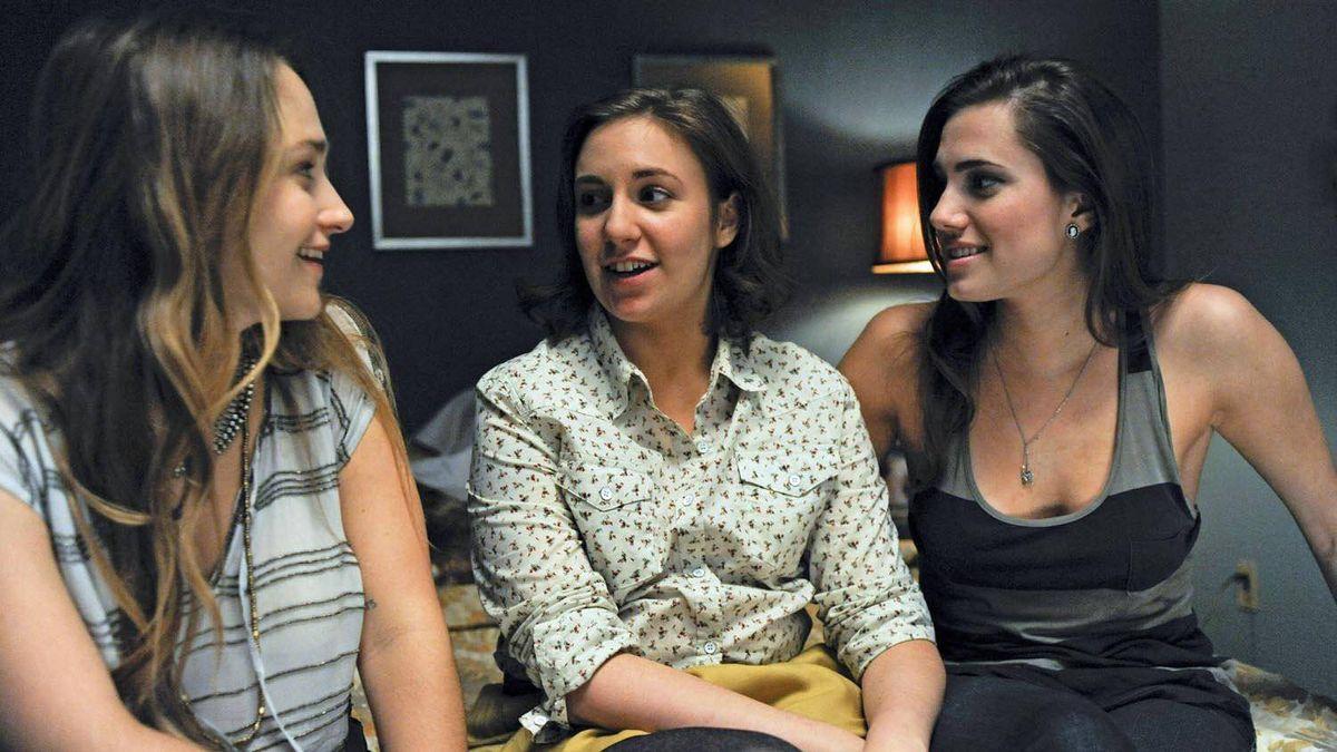 Jemima Kirke, Lena Dunham, and Allison Williams in Girls.
