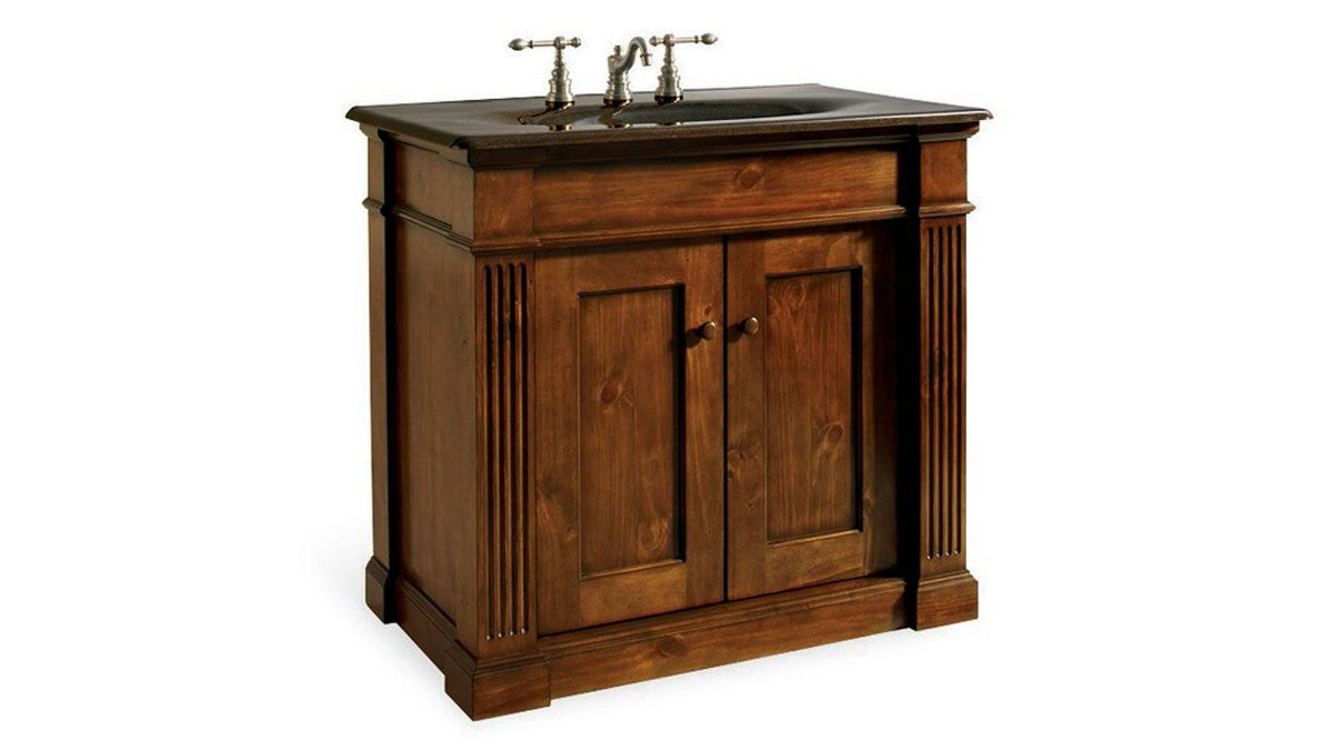 Composed of knotty-pine solids and veneers, Kohler's heirloom-quality Thistledown vanity boasts a catalyzed polyurethane finish and slow-close adjustable doors and drawers. $2,462.70 through www.kohler.com.