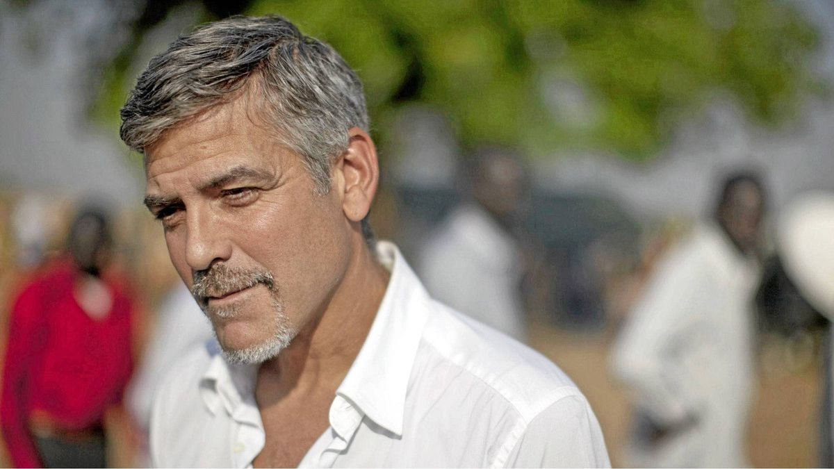 American actor and activist, George Clooney, outside a polling station on the first day of voting in the southern Sudanese capital city of Juba on Sunday, Jan. 9, 2011. Clooney is visiting southern Sudan in a bid to draw attention to the situation as southern Sudanese prepare to vote in an independence referendum that will determine whether the region secedes from the north to form the world's newest country.