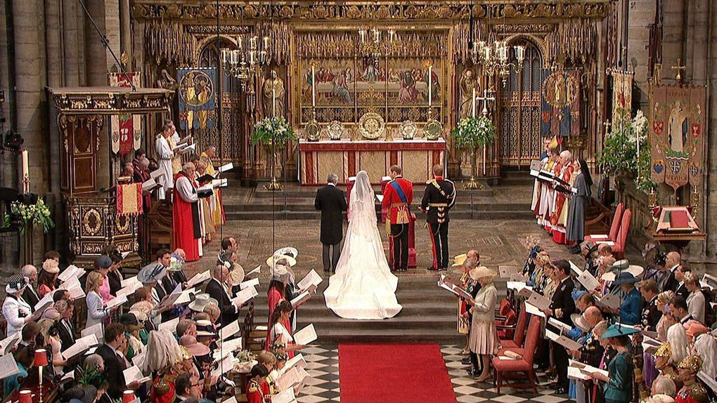 In This Image Taken From Video Britain S Prince William And Kate Middleton Stand At The