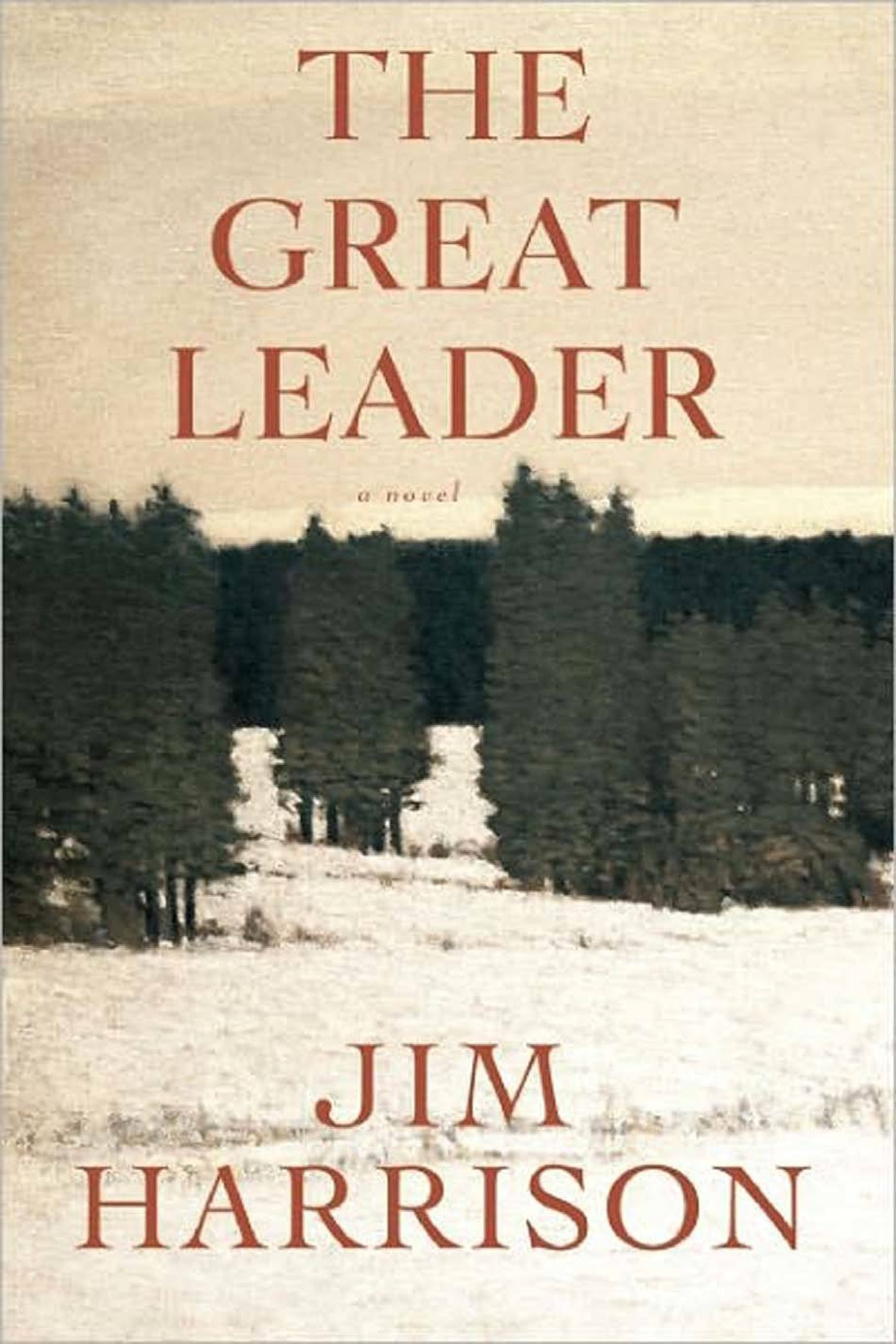 THE GREAT LEADER A Faux Mystery By Jim Harrison (Anansi) Retired Detective Sunderson dreams of finding enough evidence to imprison Dwight/King David, the Great Leader of a cult that offers pseudo-native-American spiritual enlightenment in return for thousands of dollars and underage sexual partners. Sunderson is aided by 16-year-old Goth girl Mona. An enthralling, exhilarating, provocative novel. – T.F. Rigelhof