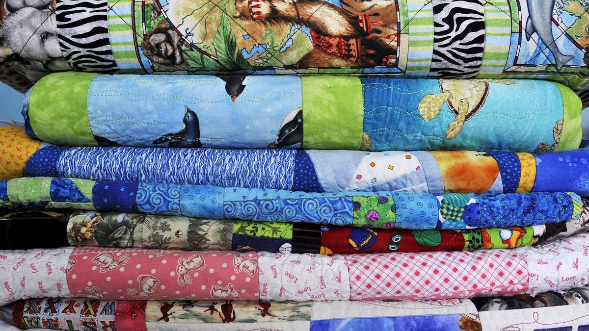 Quilts stock photo.