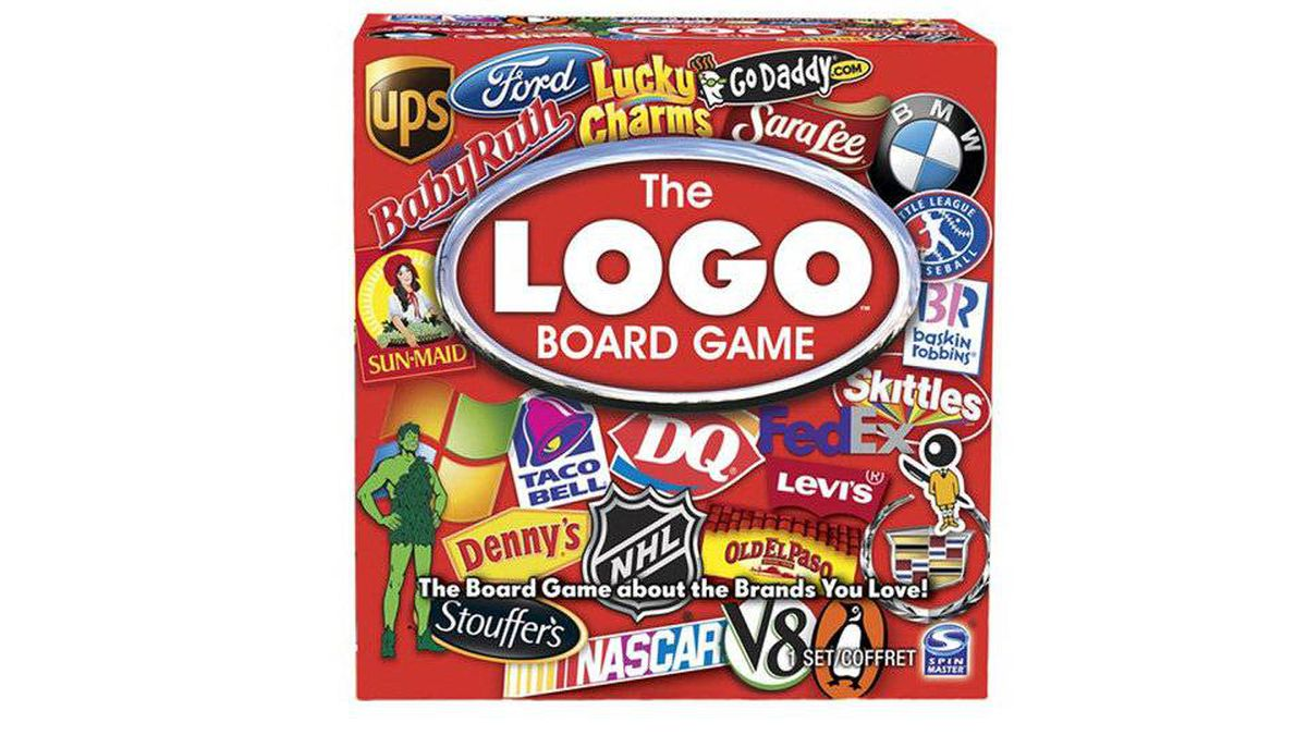 The Logo Board Game This game is being touted as a 'hilarious family game of pop-culture.' Others might call it 'advertising.'