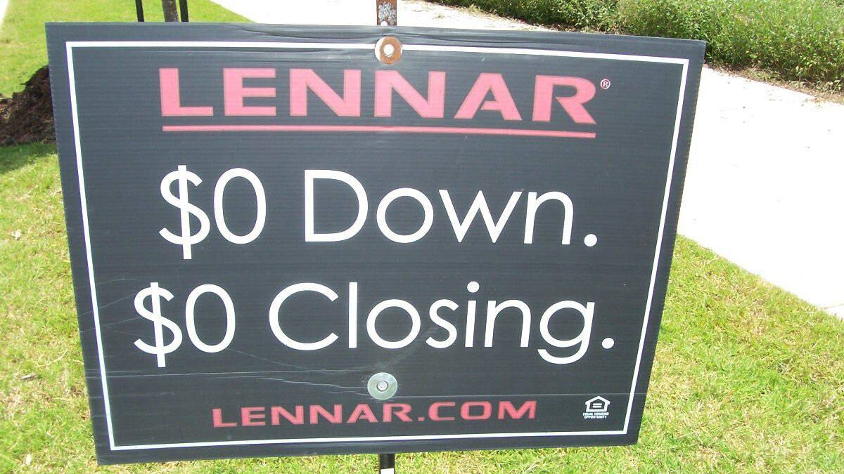 A lawn sign on a property in Buda, Texas.