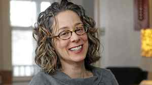 Author Sara Levine in her home in Evanston, Ill., on Jan. 21, 2012.