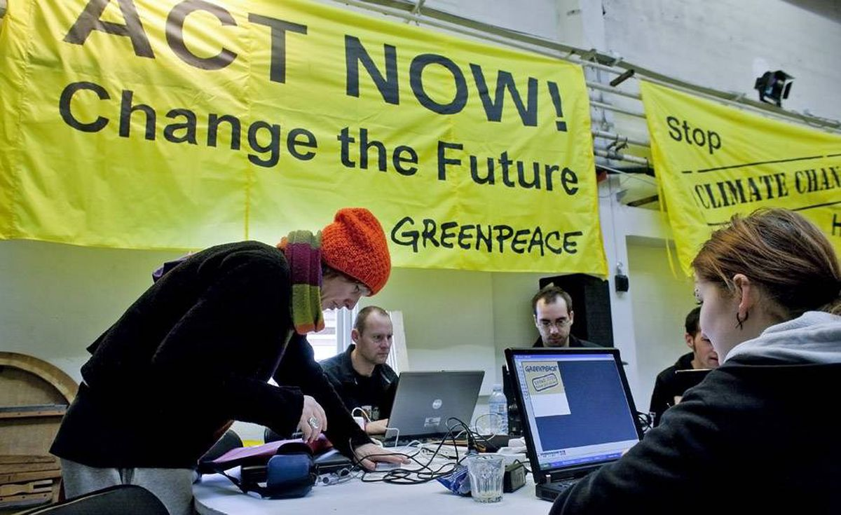 Greenpeace activists prepare actions in a Greenpeace's camp set up on the little island of Refshaleoeen, on December 7, 2009 in Copenhagen. At least 110 leaders have said they will attend a December 18 summit set to cap historic UN climate talks in Copenhagen.