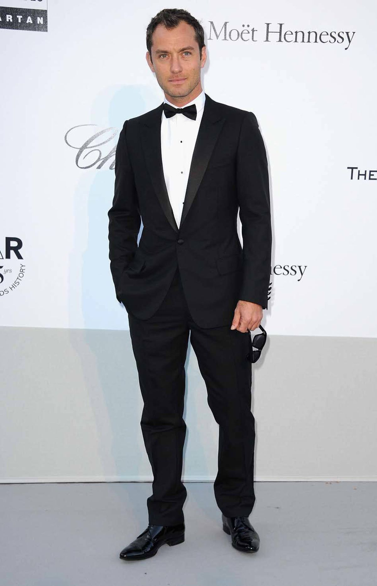 Jude Law attends amfAR's Cinema Against AIDS Gala at the Cannes Film Festival on Thursday.