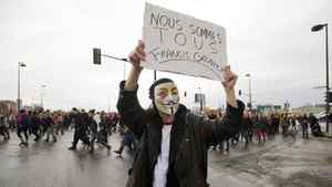 Students demonstrate in Montreal Thursday, March 8, 2012 calling for equal rights for women and against rising tuition hikes.